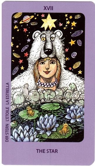 Аркан Звезда из Таро шведской ведьмы (Таро Иоланды - Jolanda Tarot)