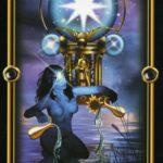 XVII Старший Аркан таро Звезда из  Gilded Tarot