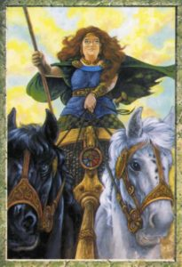 Аркан Колесница из Druid Kraft Tarot
