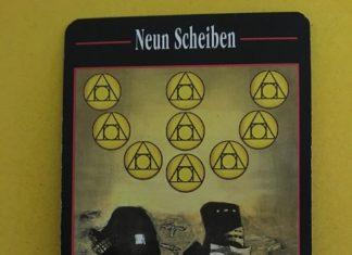 Девятка Пентаклей (Neun Scheiben) в Таро Акрона (Der Akron-Tarot)