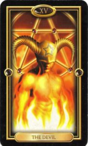 XV Аркан Таро Дьявол из колоды Gilded Tarot