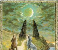 Аркан Луна из Druid Craft Tarot
